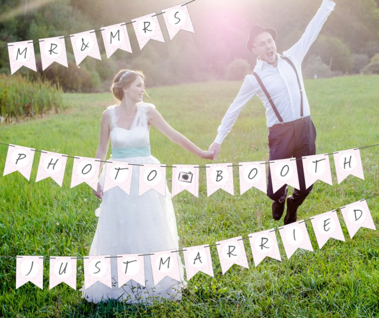Gratis Wimpelketten Zum Download Hochzeitsfuchs