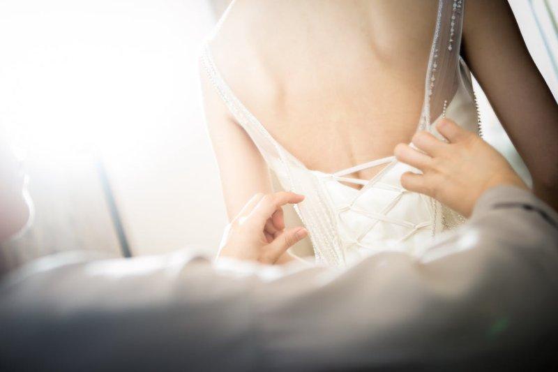 Brautkleid Anprobe