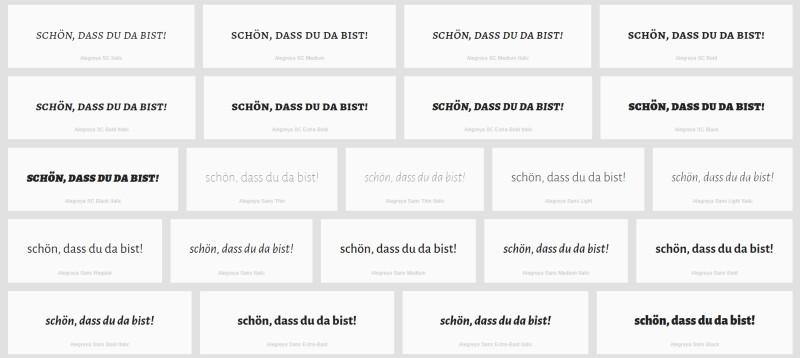 Wordmark.it bietet eine Übersicht von Google Schriftarten