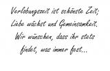 Verlobungszeit ist schönste – Johann Wolfgang von Goethe