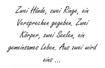 Zwei Hände, zwei Ringe,