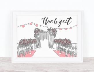 Hochzeitsschilder: Große Wirkung für kleines Geld